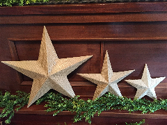 Large Burlap Star
