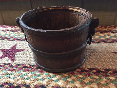 Treen Bucket with Handles-Treen, Bucket
