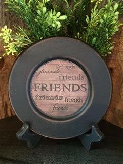 Friends Plate-Plate, Faith, Family, Friends